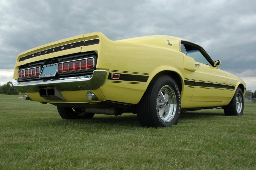 Bright Yellow 1969 Ford Mustang Shelby Gt 350 Fastback