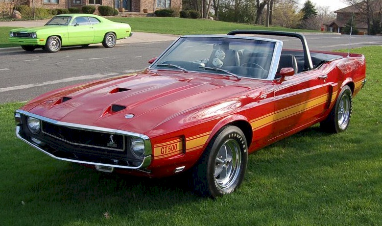 Candy Apple Red 1969 Shelby GT-500 Convertible