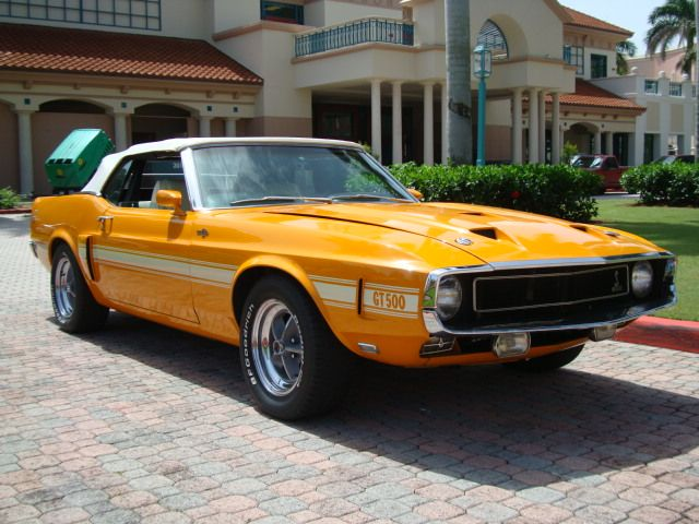 Grabber Orange 1969 Mustang Shelby GT500 Convertible