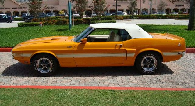 Grabber Orange 1969 Ford Mustang Shelby Gt 500 Convertible