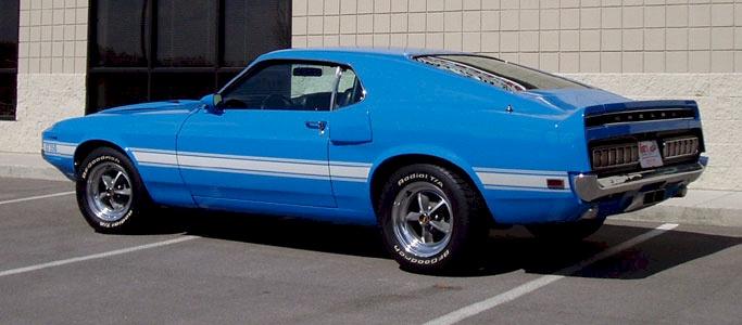 Grabber Blue 1969 Ford Mustang Shelby Gt 350 Fastback