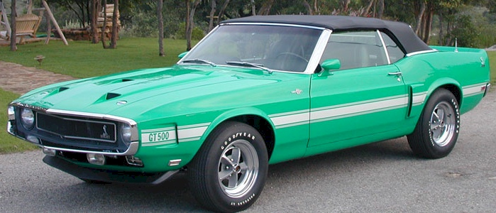 Grabber Green 1969 Shelby GT-500 Convertible