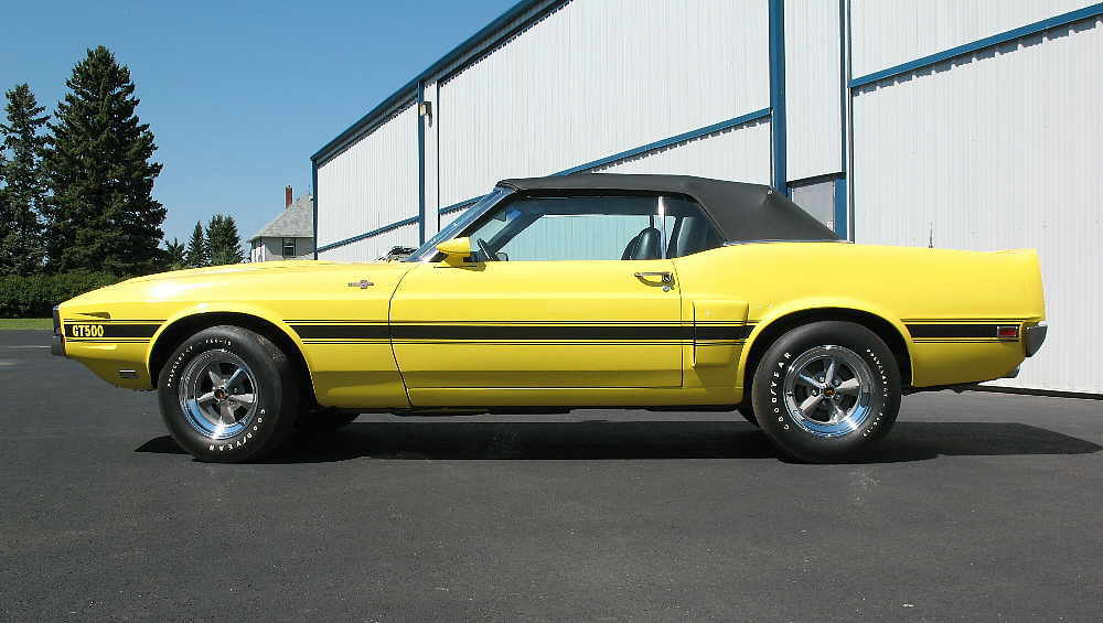 Grabber Yellow 69 Shelby GT500 Convertible