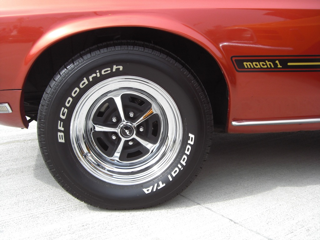 Indian Fire Red 1969 Mach 1 Ford Mustang Fastback
