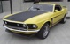 Bright Yellow 1969 Mustang Boss 302 Fastback
