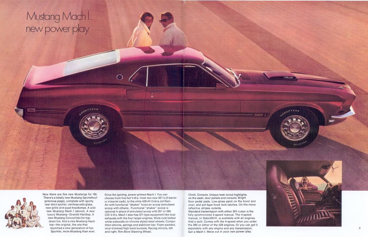 Ford 1969 Mustang Sales Brochure