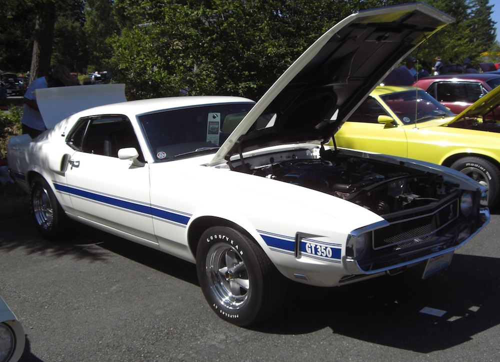 Wimbledon White 1969 Mustang Shelby GT-350