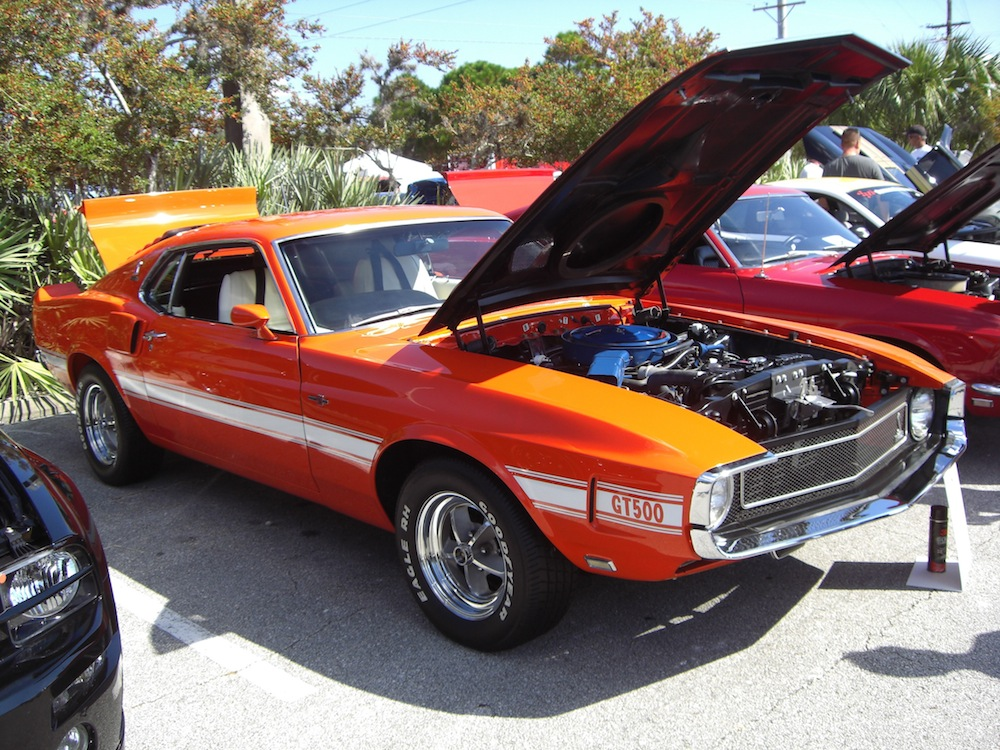 Competition Orange 1969 Mustang Shelby GT500 Fastback
