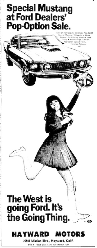 1969 ford mustang pop option photo for Coast to coast motors hayward ca