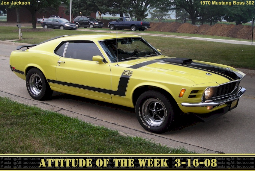 Competition Yellow 1970 Boss 302 Ford Mustang Fastback