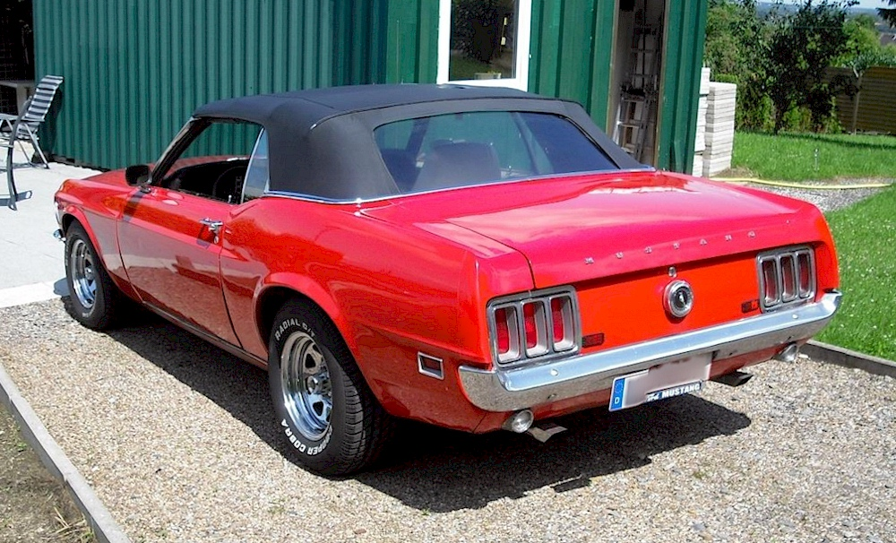 Red 1970 Mustang Convertible
