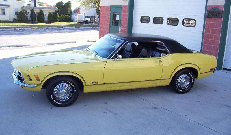 Competition Yellow 1970 Mustang Grande Hardtop