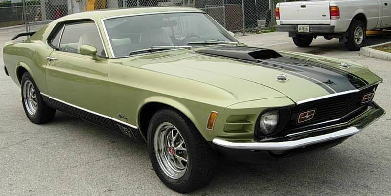 Green 1970 Mach 1 Ford Mustang Fastback Mustangattitude
