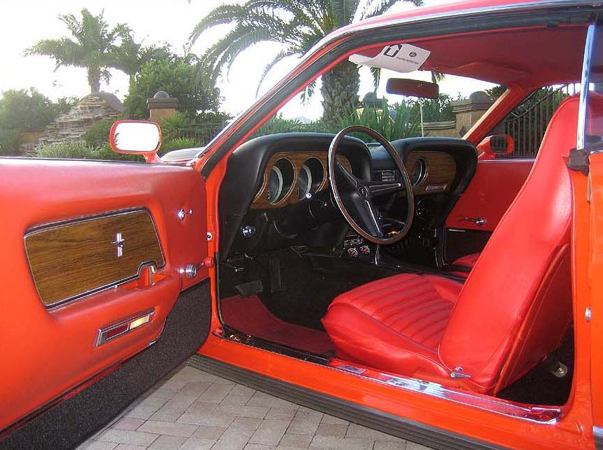 Calypso Coral Orange Red 1970 Mach 1 Ford Mustang Fastback
