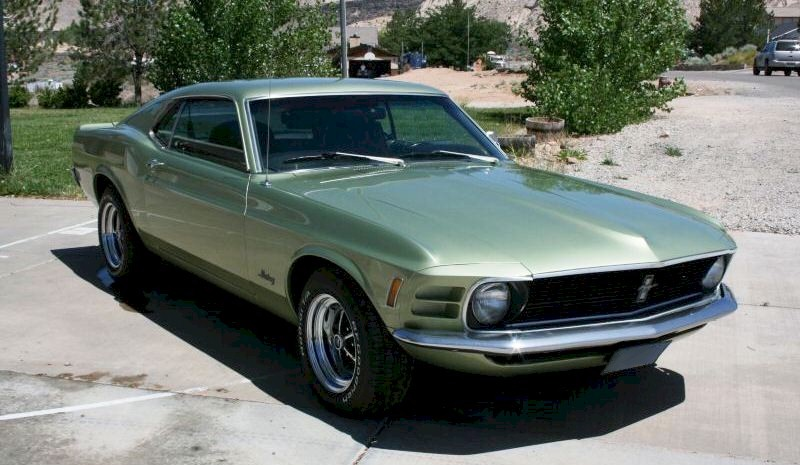 Medium Lime Green 1970 Ford Mustang Fastback