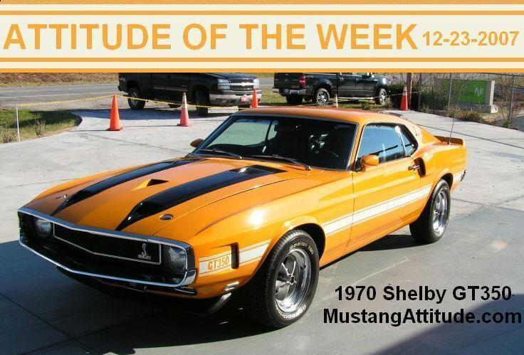 Grabber Orange 1970 Mustang Shelby GT350