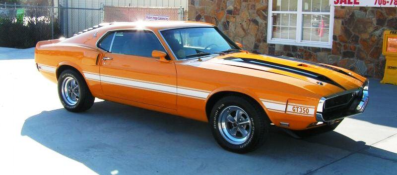 Grabber Orange 1970 Mustang Shelby Gt350
