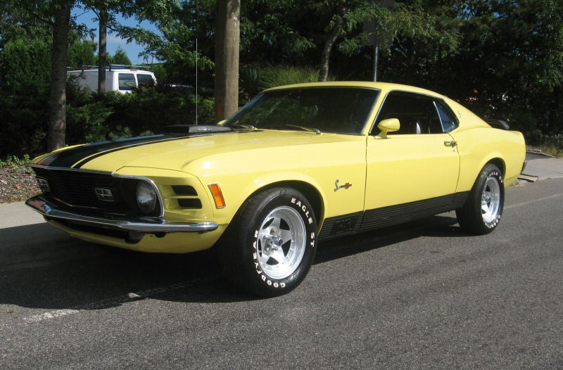 Competition Yellow 1970 Mach 1 Ford Mustang Fastback