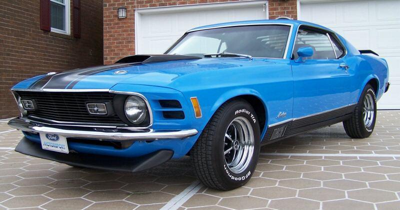 Grabber Blue 1970 Mach 1 Ford Mustang Fastback  MustangAttitude