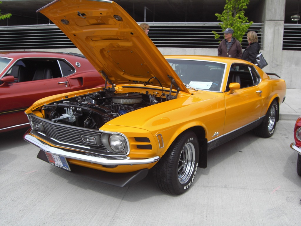 Grabber Orange 1970 Mustang Mach 1 Fastback