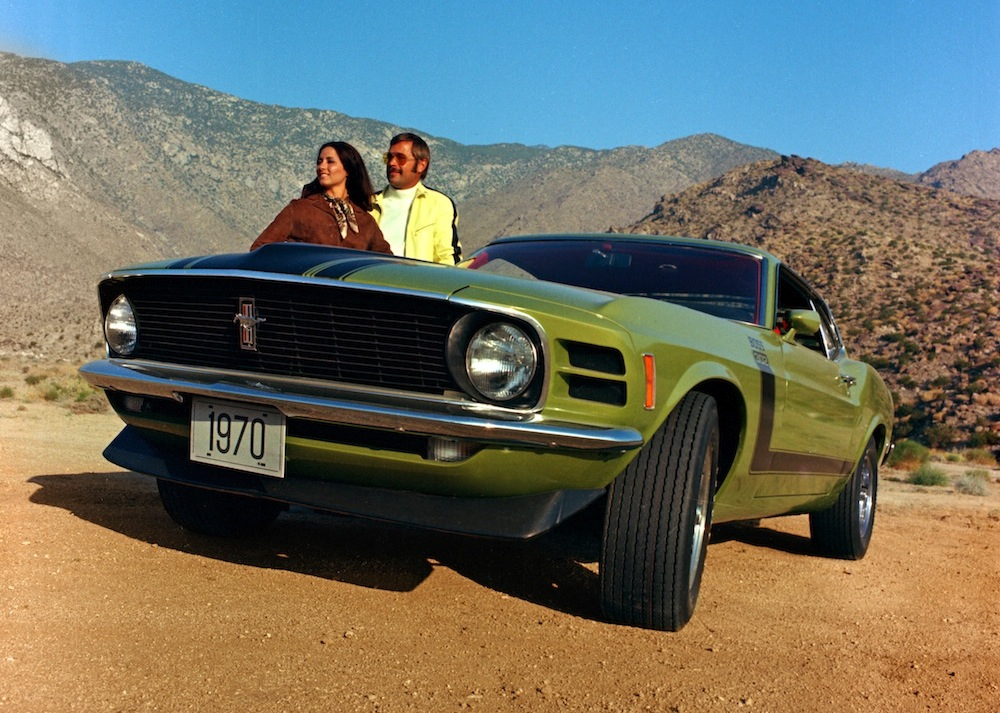 Medium Lime 1970 Mustang Boss 302 Fastback