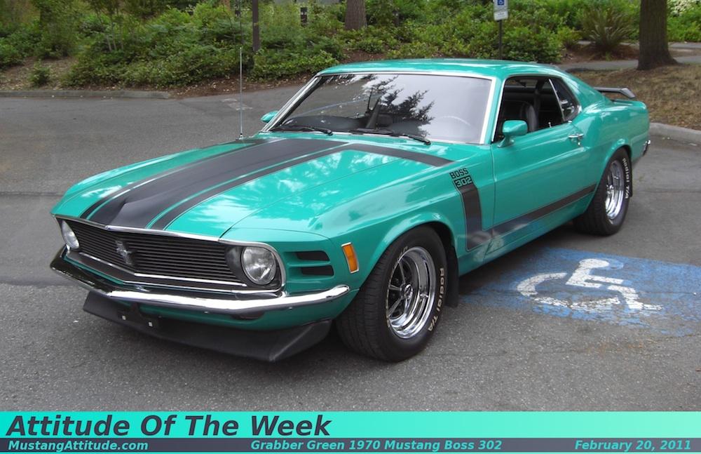 Grabber Green 1970 Boss 302 Ford Mustang Fastback