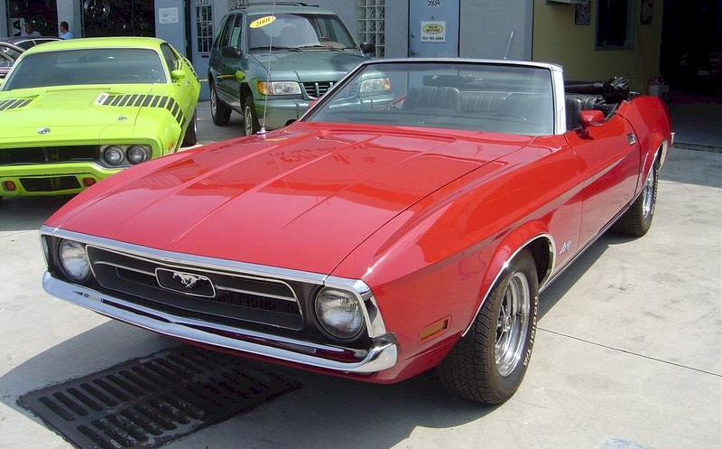 Bright Red 1971 Ford Mustang Convertible Mustangattitude Com Photo Detail