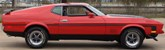 Bright Red 1971 Mustang Mach 1 Fastback