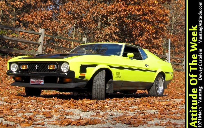 Bright Lime 1971 Mach 1 Mustang