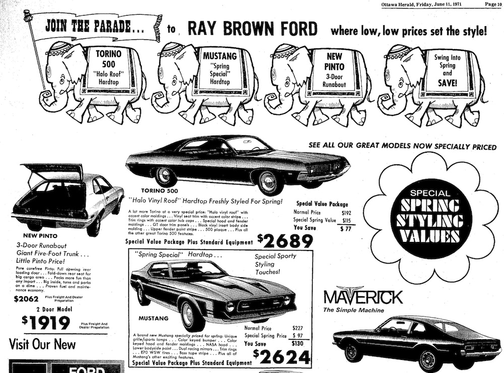 1971 Spring Special Hardtop Newspaper Ad