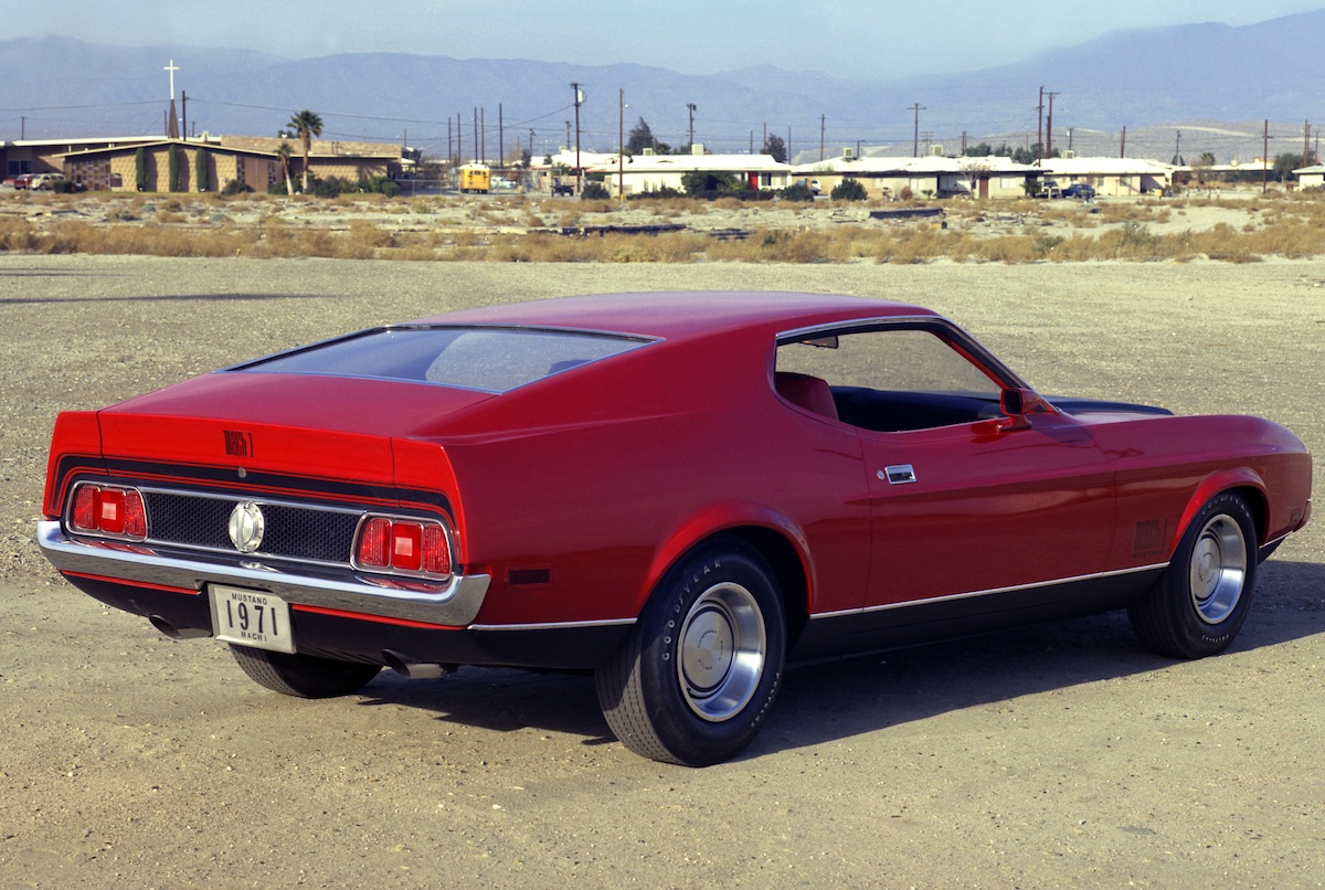Bright Red 71 Mustang Mach 1