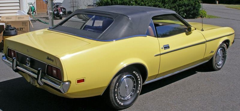 Medium Bright Yellow 1972 Mustang Convertible
