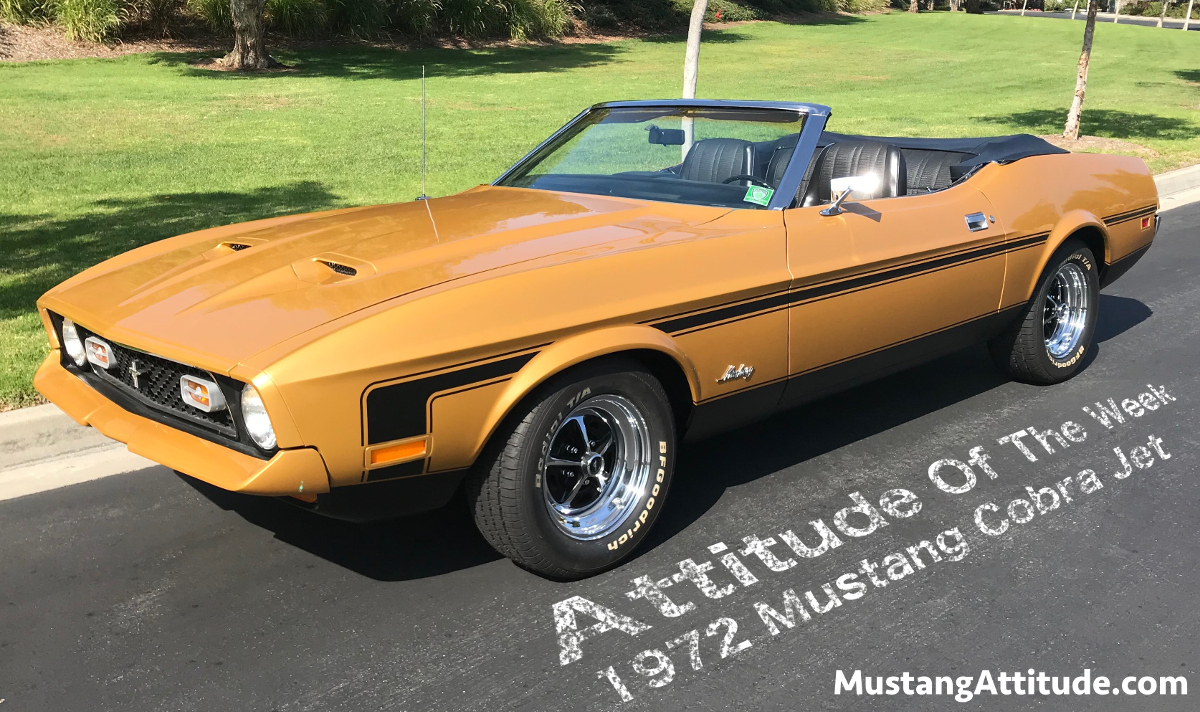 1972 Gold Glow Mustang convertible
