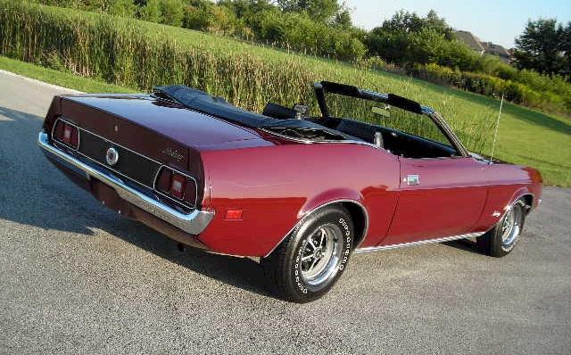 Maroon 1972 Mustang Convertible