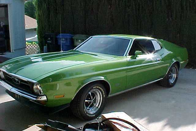 Medium Lime Metallic Green 1972 Mustang Fastback