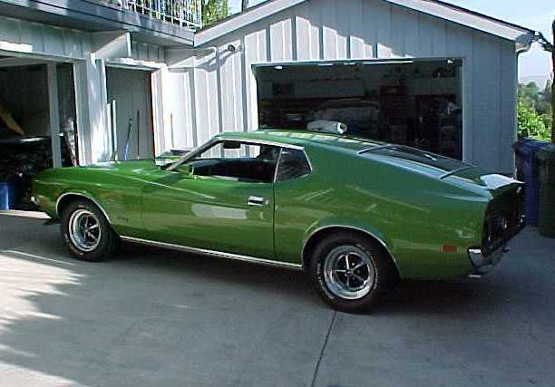 Medium Lime Metallic Green 72 Mustang Fastback