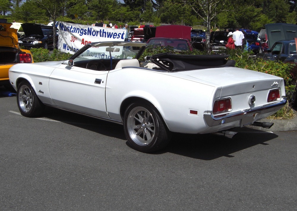 White 1972 Mustang Convertible