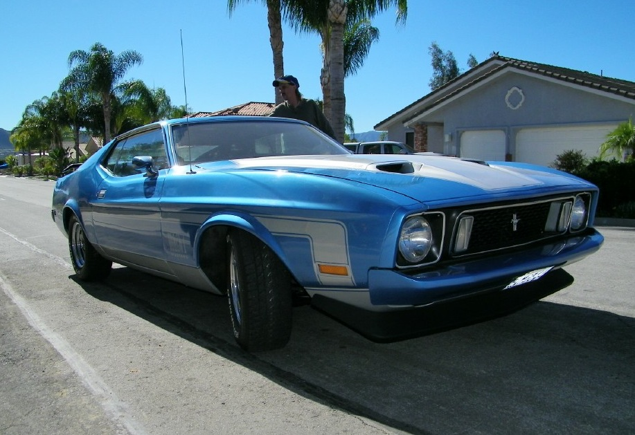 Medium Blue 1973 Mach 1 Fastback