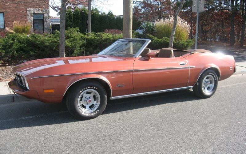 Medium Copper 1973 Mustang Convertible
