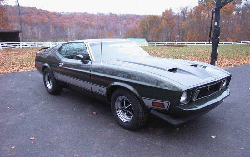 Dark Green 1973 Mustang Mach 1 Fastback