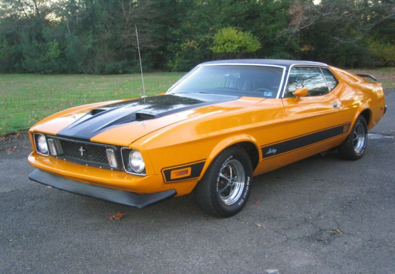 Custom Grabber Orange 1973 Mustang Mach1 Fastback