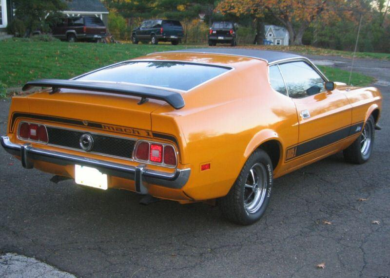 Grabber Orange 1973 Mach 1 Ford Mustang Fastback