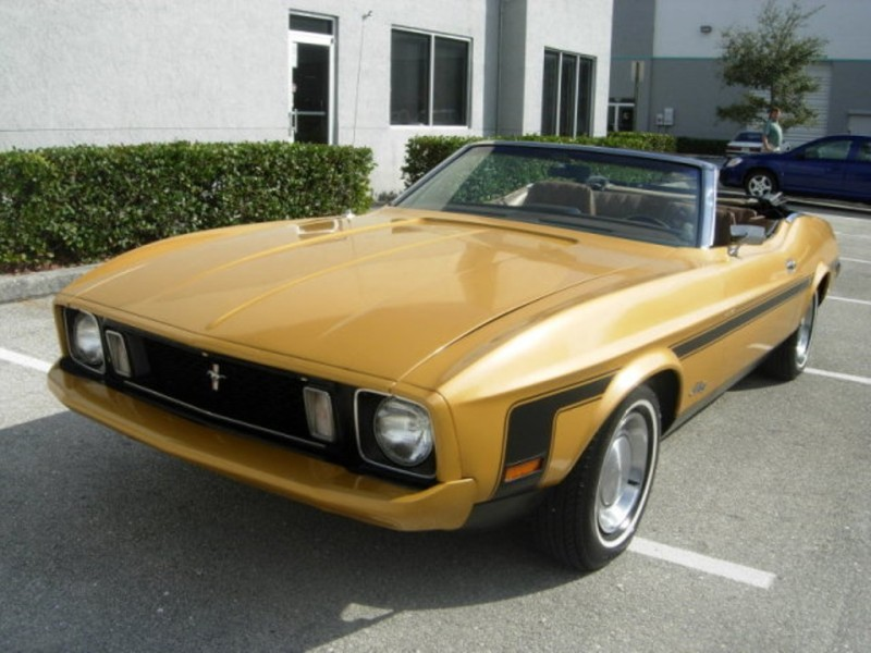 Gold Glow 1973 Mustang Convertible