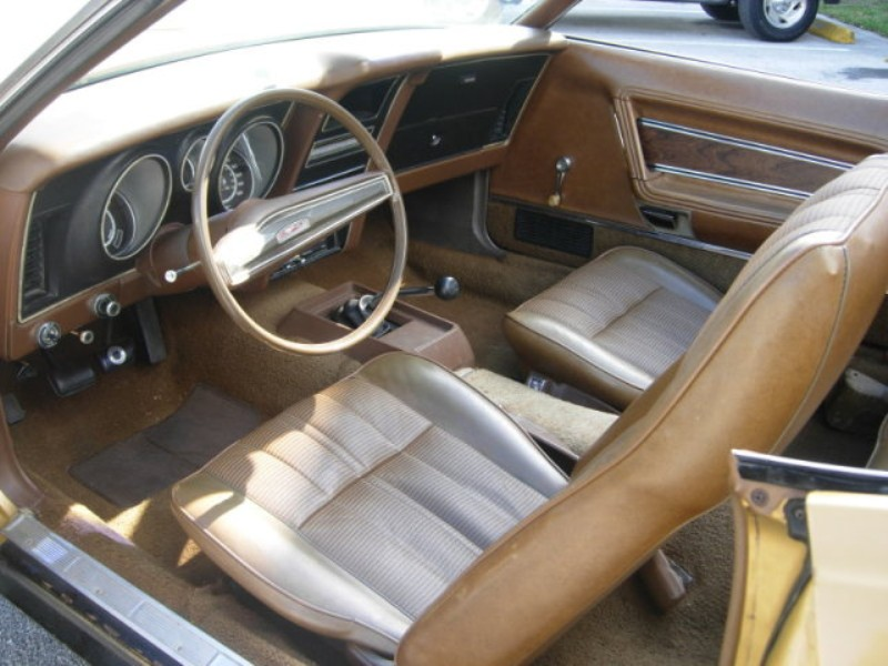 Ginger Gold Interior 1973 Mustang Convertible