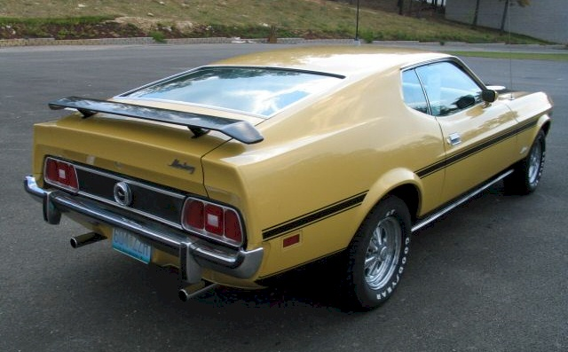 Light Yellow Gold 73 Mustang Fastback