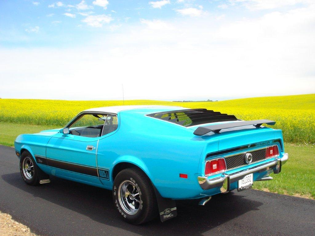 medium aqua blue 1973 mach 1 ford mustang fastback. Black Bedroom Furniture Sets. Home Design Ideas
