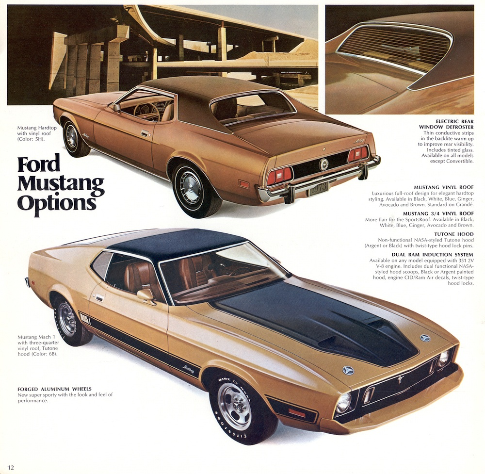 We Love Ford's, Past, Present And Future.: 1973 Ford Mustangs