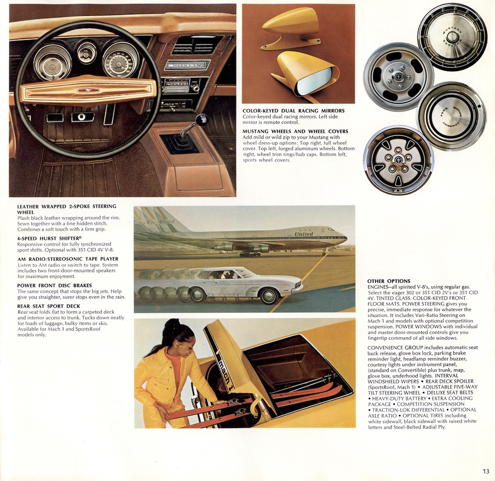 Page 13: 1973 Ford Mustang Promotional Brochure