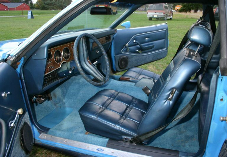 Interior view 1974 Mustang Mach 1