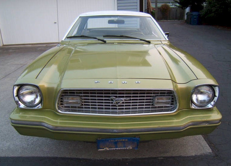 Bright Green Gold 1974 Mustang II Coupe